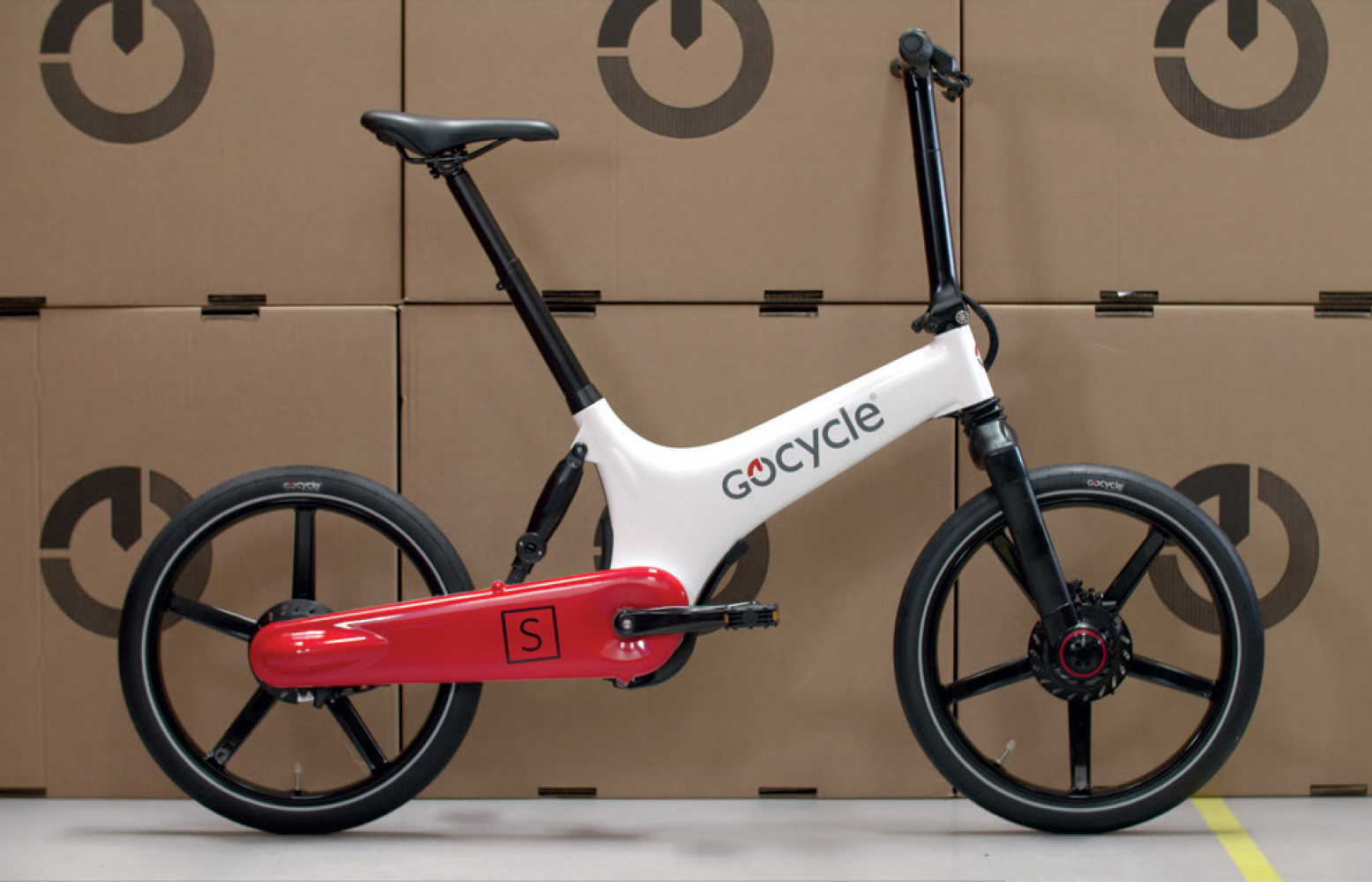 Gocycle ready for delivering
