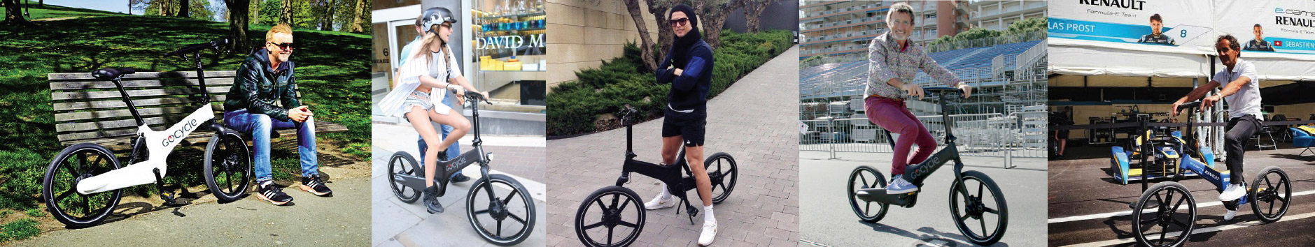 Eddie Jordan, Cristiano Ronaldo using Gocycle