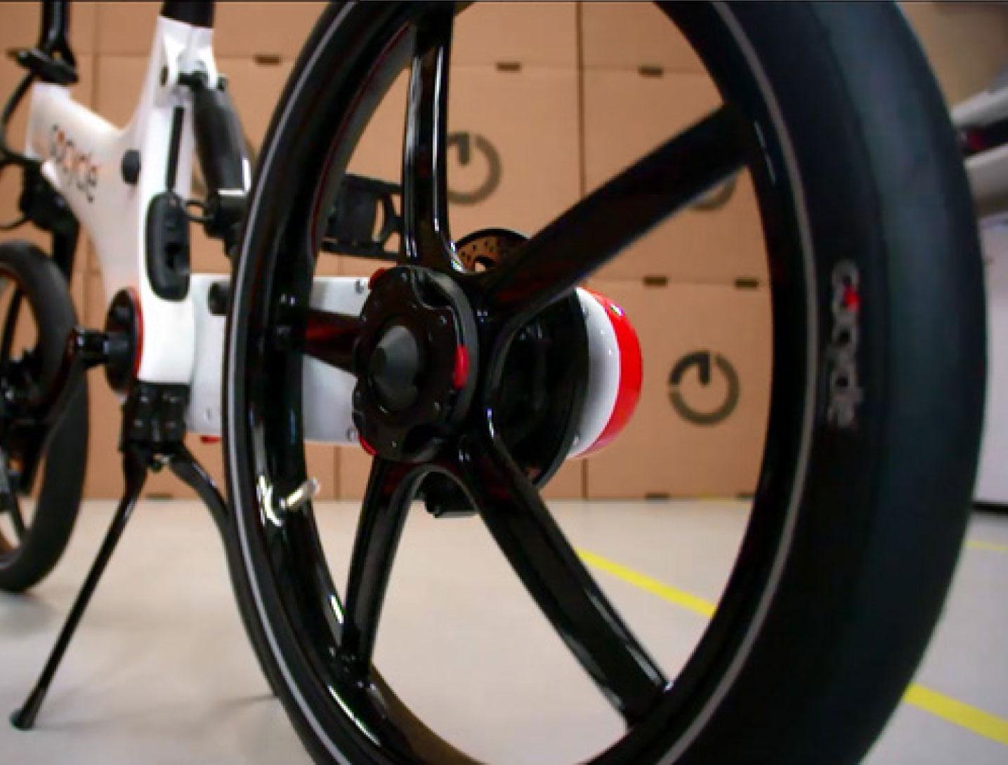Gocycle close up of rear wheel