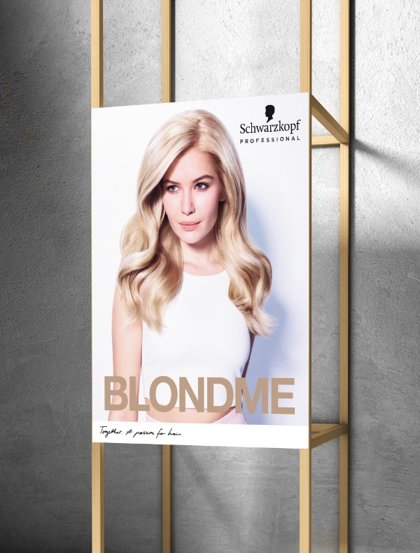 Large poster of BLONDME advertising