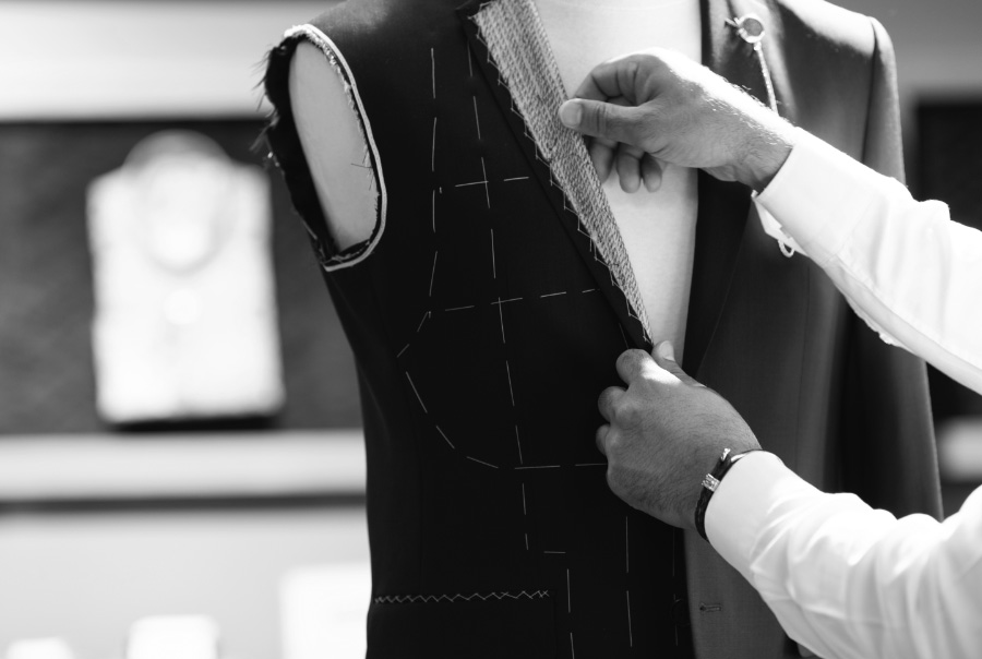 Measuring up suit chest