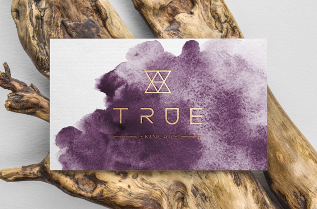 True logo with purple colourwash background
