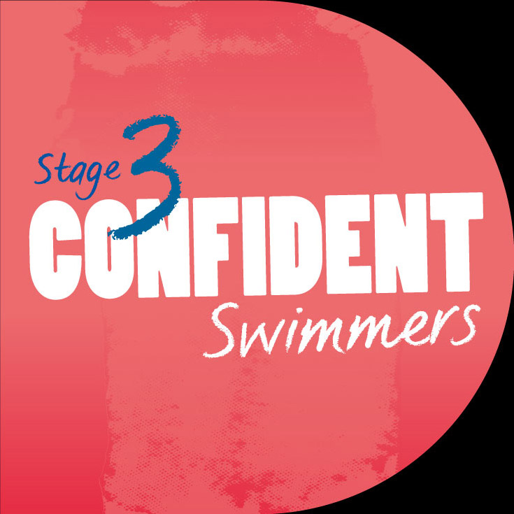 swimming illustration stage 3 confident swimmers